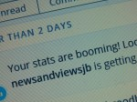 March 7, 2015 - Thrilled to hear from wordpress that newsandviewsjb readership is booming!