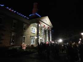 A carol sing was held outside beautiful Windsor Town Hall.