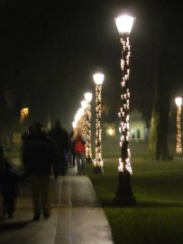 Strolling historic Windsor, Conn. town green after the 2012 Torchlight Parade.