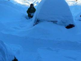 Waist deep in snow in Connecticut.