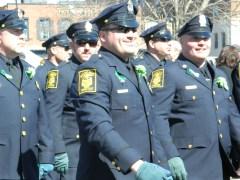Hartford police marched.