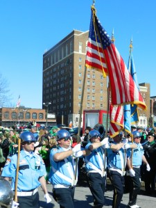 Sandy Hook first responders march in the 2013 Hartford Day Parade.