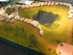 A model of the CT Trees of Honor Memorial.