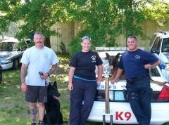 Steve Vesco and Iko, Alyssa Larson and Pete Signorelli took part in the 2013 USPCA Region 4 Trials.