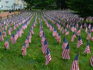 The Field of Flags at Old Sturbridge Village.