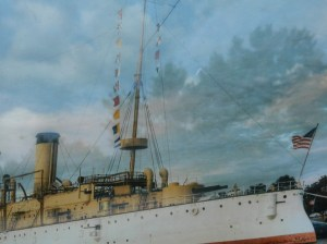 Photo rednering of the USS Olympia