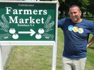 Colchester Farmer's Market Master Jeff Sawitsky.