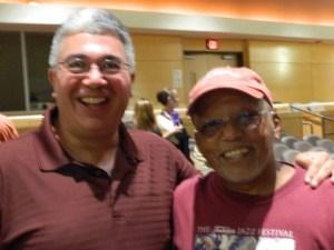 Windsor, Ct Deputy Mayor Al Simon with former deputy mayor Tim Curtis.