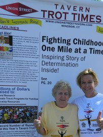 Alex's Lemonde Stand volunter Ann Walsh, and Ann Baldwin of Baldwin Media Marketing, LLC.