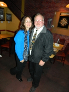 With his wife by his side, Mayor Donald Trinks won re-election in Windsor, CT.