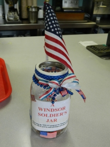 """A Windsor Solder's Collection Jar"" shown at Bart's Restaurant in Windsor, CT"