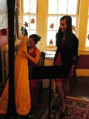 Megan Jo Cooke of Glastonbury and Julia Deitelbaun of Ellington offered musical accomaniment at the festival.