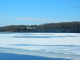 Gradually icing over reservoir.