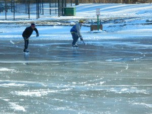 In Connecticut, ice hockey weather.