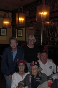 Me, Dixie, Mike, Mom/Nana and Candy at a Boston restaurant August 2010.