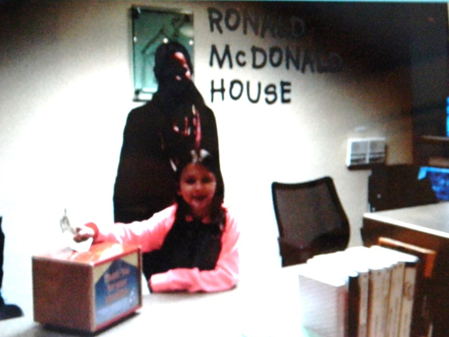 Sofia raised money to donate to The Ronald McDonald House.