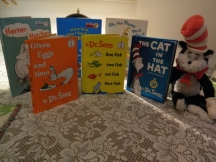 A sampling of my sister Candy's collection of Sr. Suess books.