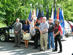 Honoring the fallen at the CTHM site selection ceremony, 6/2012.