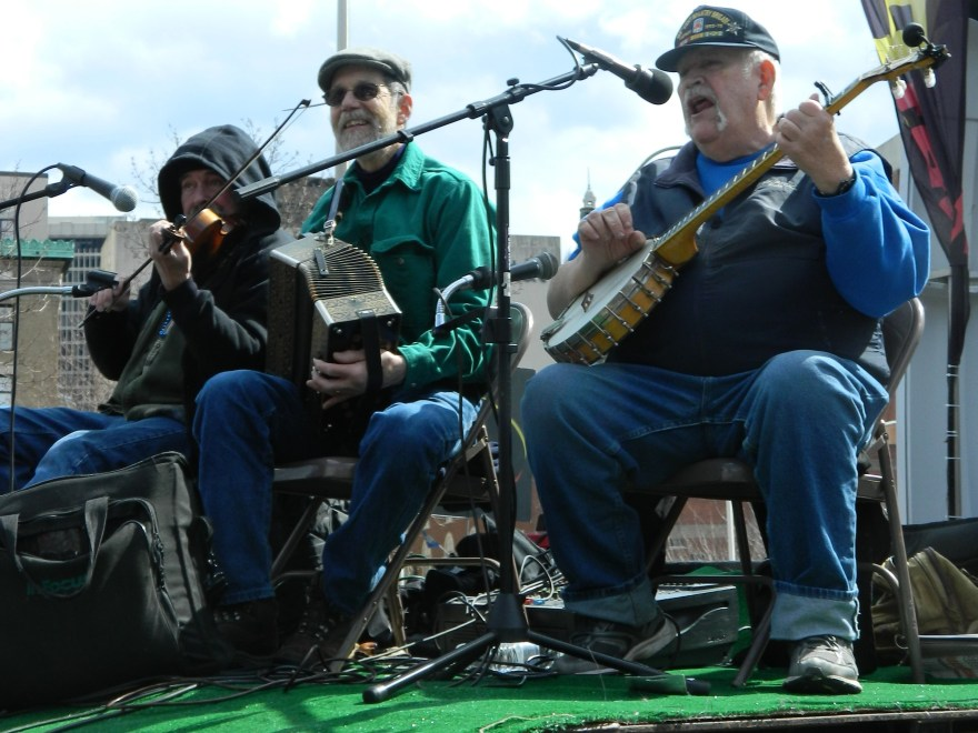 Irish Folk music from this float filled the air at the 2014 Greater Hartford, CT St. Patrick's Parade.