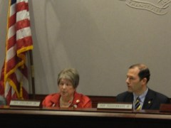 Legislators explained the ground rules for the Common Core hearing at the CT LOB.
