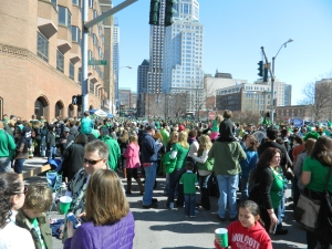 Crowds turned out for the 2013 St. Patrick's Day parade in Hartford, CT.