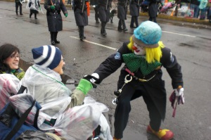 My mom looked forward to Hartford's annual St. Patrick's Day Parade and during the 2010 parade received some special attention!