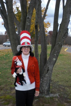 At school, celebrating Read Across America Day and Dr. Suess.