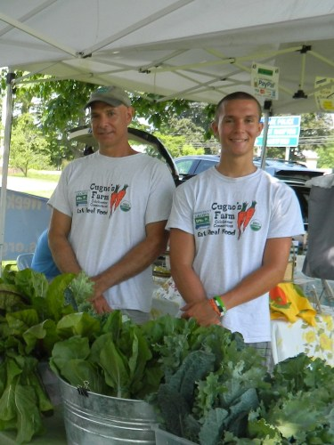 """Eat Real Food"" say father & son organic farmers Darren and Nicholas Cugno of  Colchester, CT."