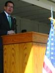 Gov. Malloy addresses the group.