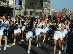 UConn cheerleaders.