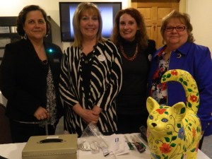 Phyllis Stargardner, Linda Lee Boucher, Jenny Castle and Jane Garibay - Executive Director of the Windsor Chamber of Commerce.