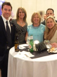 John Jary, Kristen Hoffman, Lori Hartmann, and Windsor Town Manager Peter Souza and his wife Lisa.