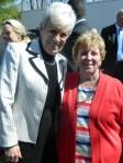 Two women helping veterans - Lt. Gov Nancy Wyman and Ann Walsh.