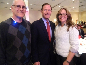 Winners of the breakfasts with Sen. BLumenthal - Charlene Goulet and Joe Bowman.