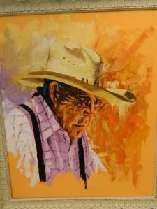 Navajo Missionary, oil, by Bernard Duffy.