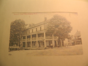 Postcard of The Bennett Hotel in Upstate New York.