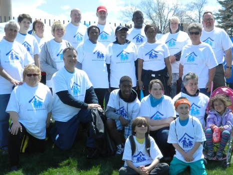 Windsor Fuel & Food Bank team of Windsor Connecticut readies for the May 4,2014 Walk Against Hunger - back, left is newly appointed executive director Eric Lazarus.