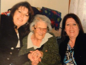 Sisters Donna and Debbie with Nana  January 2010.