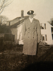 Uncle Al pictured in dress uniform during a visit home to Connecticut's Quiet Corner.