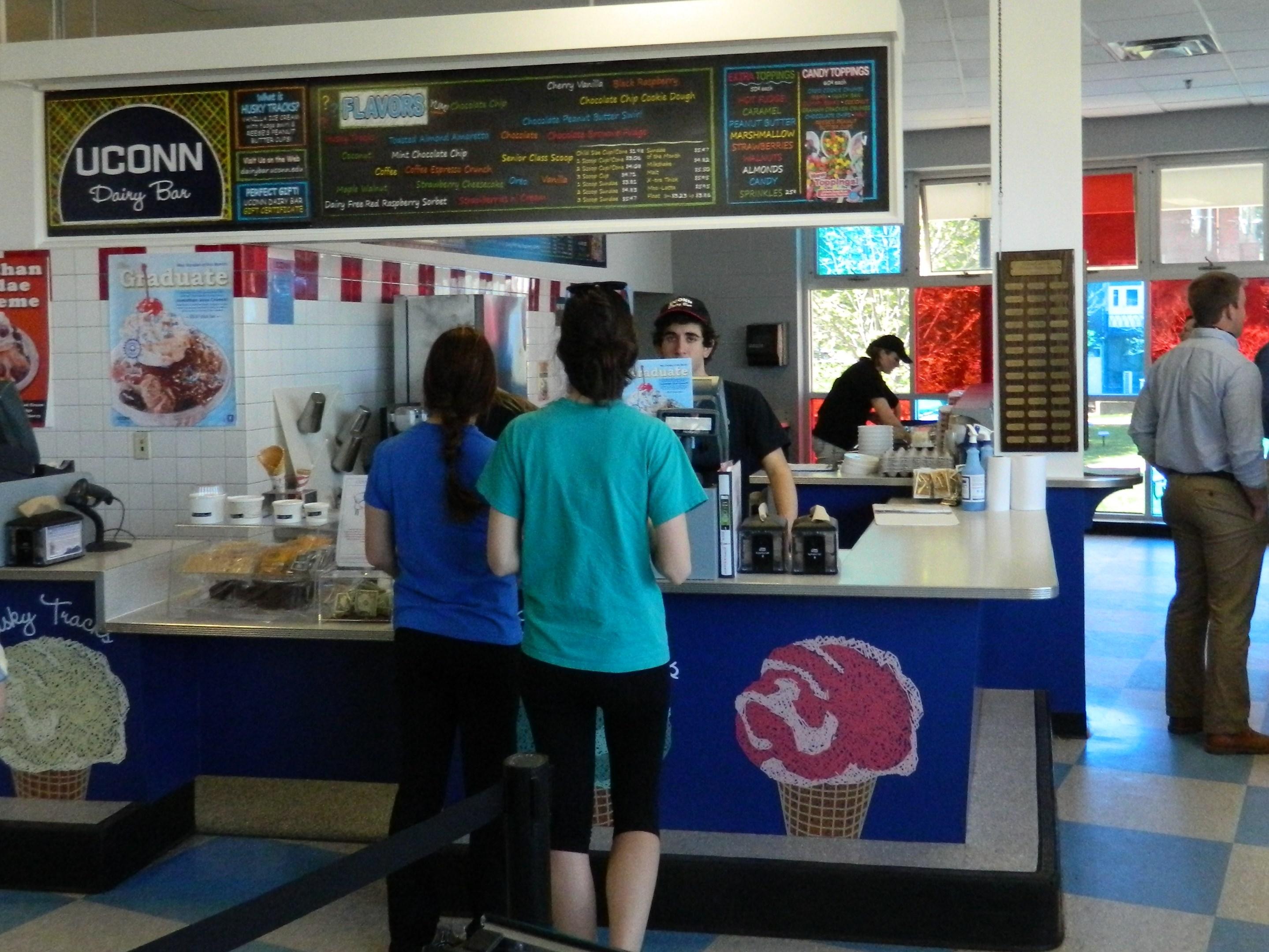 Destination Uconn Dairy Bar Storrs Connecticut