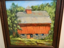 "Second Place ""Valley Falls Barn"", arylic by Sharon Chaples."