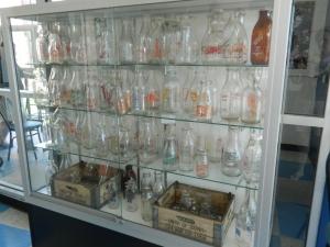 UConn milk bottles over the years.