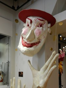 Opera & Giant Puppets: Amy Trompetter's Barber of Sevelle on display at The Ballard Institute 7 Museum of Puppetry in Storrs, Connecticut.