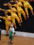 Eric Staba enjoys the giant puppets.