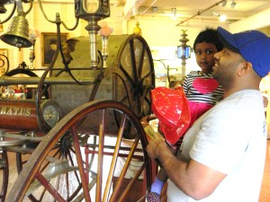 Satish and Saraniya Murugavel of Cromwell visited the Fire Musseum in located in the heart of Manchester, Connecticut's Cheney Historic District.