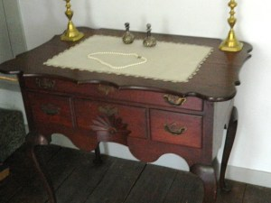 Described as priceless, this antique table is an example of the exquisite furniture the Cheney family purchased and is on display at the homestead.