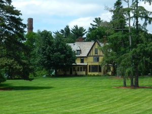 """Part of """"The Great Lawn"""" in front of one of the Cheney Mansions."""