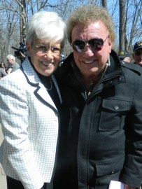 Connecticut broadcaster Brad Davis and Lt. Gov. Nancy Wyman who collaborated on the Wall of Honor at the state Capitol attended the April ground breaking.