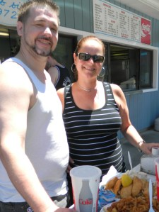 Nathaniel Bryant and Yvonne drove down fromthe Newington, Ct area to enjoy Fred's Shanty.