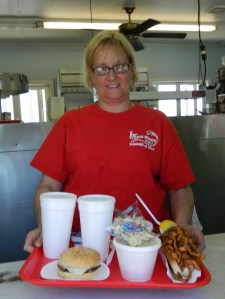 Kim Ebersole says she enjoys people enjoying themselves at Fred's Shanty.